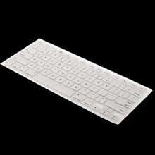 White Cover case Keyboard Silicone Cover For MAC BOOK  Laptop 13.3inch
