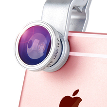 Universal 3 In 1 Clip Fisheye Lens Camera Fish Eye Wide Angle Macro Lenses for Iphone 7 6 6s 5 4s Samsung Huawei Sony Smartphone(China)