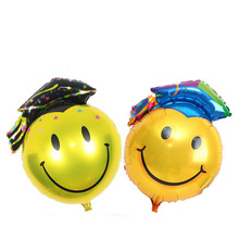 Doctor's hat aluminum Foil balloon graduation decorate school decorate children birthday balloon doctor smile balloon