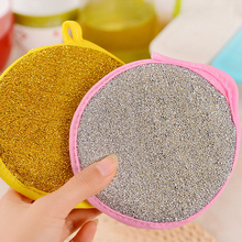 5Pcs/lot Wire Mesh&Nylon Hanging Cleaning Brush Double-sided Dishwasher Cleaner Cloth Household Kitchen Dishwasher Supplies(China)