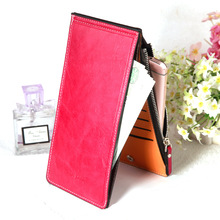 HENGSHENG top quality multifunctional leather walet female for credit card famous brand Women bag slim cards holder Female purse(China)