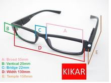+2.5 Strength KIKAR Fashion LED Reading Glasses w/ Plastic Case Night Reader Eye Light Eyeglass Toys Spectacle Diopter Magnifier(China)