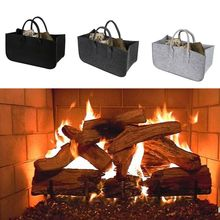 Felt bag light gray Felt basket Fireplace bag light gray Fireplace basket Basket Felt Newspaper rack Time basket(China)