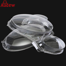 2Pcs Car Headlight Fog Light Lens Clear Lens Headlamp Cover For Mercedes for Benz E CLASS W211 2002-2008 E320 E350 E280 E300 E5(China)