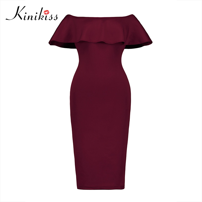 Sinine või punane volangiga kleit