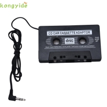 New Arrival  3.5mm Jack Car Audio Tape Cassette Adapter For Iphone MP3 CD Radio