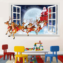 New 50*70CM 3D Wall Sticker Can Remove Fake Windows Christmas Decoration For Home Accessories Poster Home Decor For Kids Rooms