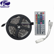 5M 10M non waterproof RGB led strip light 5050 smd flexible led strip DC12V 150led 5M RGB led rope + 44key IR remote controller
