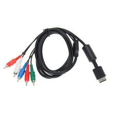 High Quality Black 1.8m HDTV AV Audio Video Cable Component Cable Cord for Sony for PS2 for PS3