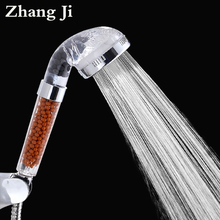 High Quality Anion SPA Rain Shower Head Water Saving Bathroom ABS High Pressure Handheld Shower Head Water Filter Sprayer ZJ005