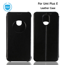 For Umi Plus E PU Leather Case Flip Cover With Window-View Original Protective Case For Umi Plus 5.5'' phone Android 6.0 MTK6755(China)