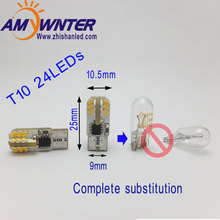 Car Bulbs w5w T10 Canbus led Reading Light Miniature 194 WEDGE Cars Interior Bulbs Tail lamp White Blue marker lamps for cars