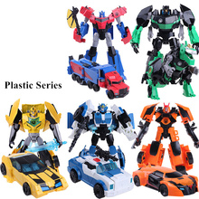 Anime Series 4 Toys Plastic ABS Deformation Robot Car Action Figure Brinquedos Kids Cool Model Boys Toys Christmas Gifts(China)