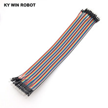 Buy Dupont line 40pcs 30cm 2.54mm 1p-1p Pin Male Male Color Breadboard Cable Jump Wire Jumper Arduino for $1.33 in AliExpress store