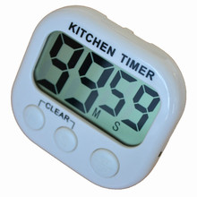 Comfortable life 1pc Large LCD Digital Kitchen Cooking Timer Count-Down Up Clock Loud Alarm wholesale free shipping A10