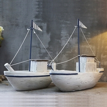 Large Sailboat Craft Modern Style Home Decoration Accessories Furnishings Unique Sailing Boat Resin Handicrafts Birthday Gift(China)