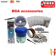Freeshipping!! Universal BGA Reballing Kit,433pcs stencils, solder flux, BGA accessories best combination for customers