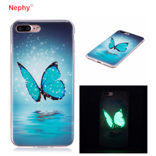 Nephy Glow Ultra Slim butterfly Soft Silicone Phone Case For iPhone X 8 7 6 S 6S Plus 6Plus 7Plus 5 5s SE Cover Casing Housing(China)