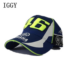 BLUE New Design F1 Racing Cap Car Motocycle Racing MOTO GP VR 46 Rossi Embroidery Sport Hiphop Cotton Trucker Baseball Cap Hat
