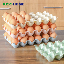 4 Color Kitchen Egg Storage Box Organizer Refrigerator Storing Egg 29*19.5*3.5cm 24 Eggs Organizer Container Storage Egg Racks(China)