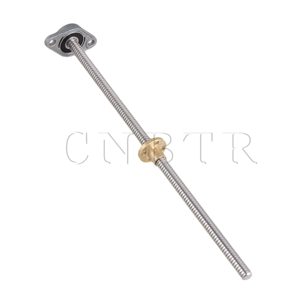 CNBTR 3pcs 250mm 8mm Lead Screw 2mm &amp; 8MM Pillow Block Mounted Bearing for Print<br><br>Aliexpress
