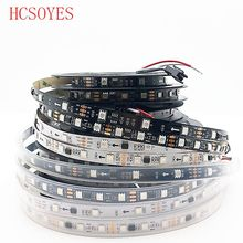 HCSOYES (5m/roll) DC12V ws2811 ic 30/48/60leds/m IP30/IP65/IP67 5050 SMD rgb addressable led pixels strip