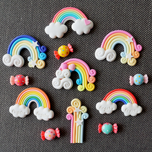 1 Pcs.Kawaii Candy Color Cartoon Rainbow Fridge Magnet Refrigerator Decoration.Kids Toys Souvenir Wall Sticker.Free shipping
