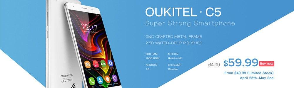 image for Oukitel U20 Plus Smartphone 5.5inch IPS FHD MTK6737T Quad Core 13MP Du