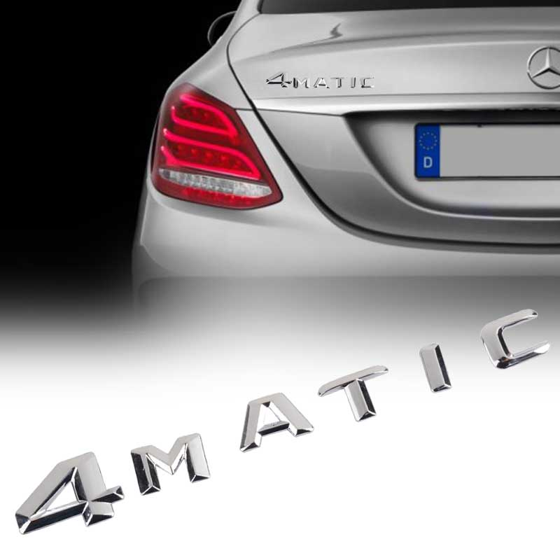 Car Styling Chrome 4MATIC 4 MATIC Logo Emblem Badge Car Rear Trunk Lid Decal Stickers for Mercedes High Quality ABS