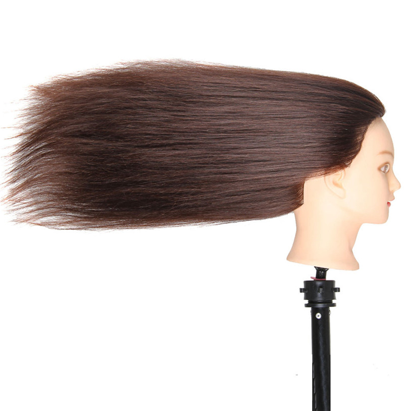 Blended hair styling hairdressing Salon training head professional Styling head Cutting cosmetology female manikin no makeup<br><br>Aliexpress