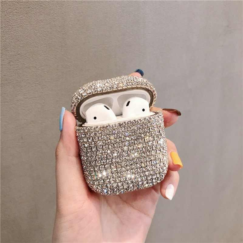 Bling diamonds hard Shell for Apple Airpods case protective cover Wireless Bluetooth Earphone Case Charging box bags