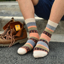 1 Pair 2017 Winter Mens Socks Warm Thick Wool Sokken Mixture ANGORA Cashmere Casual Dress Socks calcetines hombre Cheap