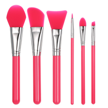 6Pcs/set Silicone Makeup Brush Professional Facial Mask Foundation Cream Concealer Eyeshadow Brush Cosmetic Brush Make Up Tool(China)
