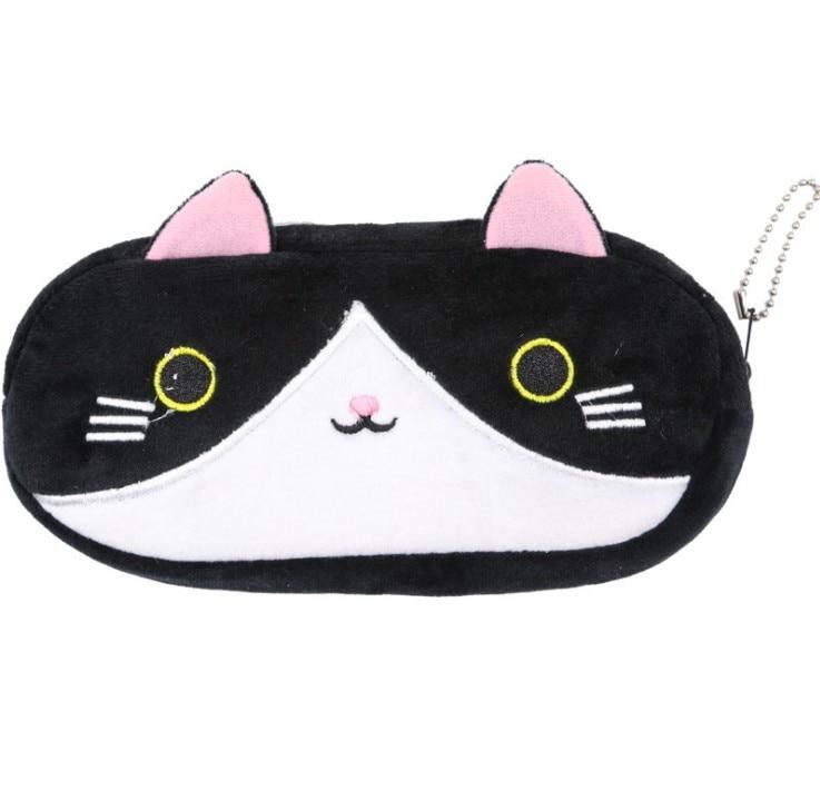Plush Pencil Case School Supplies For Girls Stationery Office Cute Kawaii Cartoon Cat Pen Bag pouch kits Kids Gift Makeup bag (9)
