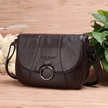 New Women Female Genuine Leather Shoulder Bag Purse Fashion Trends Casual Ladies Satchel Famous Brand Crossbody Messenger Bag