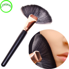 New Professional Soft Large Fan Shape Makeup Brush Foundation Blush Blusher Powder Cosmetic Apply Dust Cleaning Beauty Tools(China)