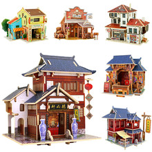 Hot sale DIY Wooden House Christmas home decor DIY Furniture Handcraft Miniature Box Creative Christmas Gift Toy 3D decoration(China)