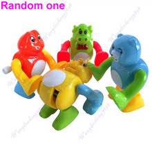 5pcs/lot Funny Clockwork Wind Up Tumbling Somersault Animal Children Toy Gift(China)