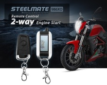 Steelmate 986XO Motorcycle Alarm System Motor Remote engine start and key free driving LCD Transmitter ECU Alarm Speaker USB