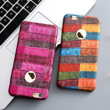 For iPhone 7 Case,KISSCASE Chic Fashion Crocodile PC Plastic Case for iPhone 6 6s Plus 7 7 Plus Cover Ultra Slim Hard Back Coque