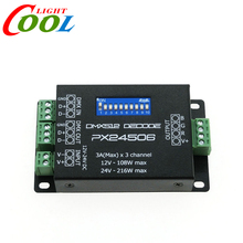 PX24506 DMX Decoder Driver RGB Amplifier Control Controller For LED Light 12-24V