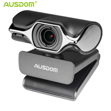 Ausdom AW620 1080P HD Video Webcam Fold-and-Go USB Web Camera with Built-in Mic Manual Focus Web Cam for PC Laptop Desktop Skype(China)