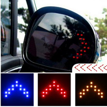 2 Pcs 14 SMD LED Arrow Panel for Car Rear View Mirror Indicator Turn Signal Light Auto LED Rearview Mirror 12V LED Trailer Light(China)