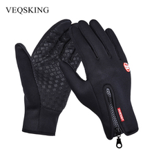 Buy Touch Screen Full Finger Hiking Gloves Winter Fleece Thermal Sport Gloves Men Women Windstopper Cycling Motorcycle Gloves for $3.94 in AliExpress store