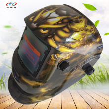 Welding Helmet auto darkening Printing solar and Battery welding Mask Semi-automatic for Mig Arc Tig Welder Machine HD34(2233DE)(China)