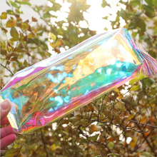 Kawaii Laser transparent Reflective Pencil Case Large Capacity pencilcase Bag Chancery School Supplies Stationery penalty 04903
