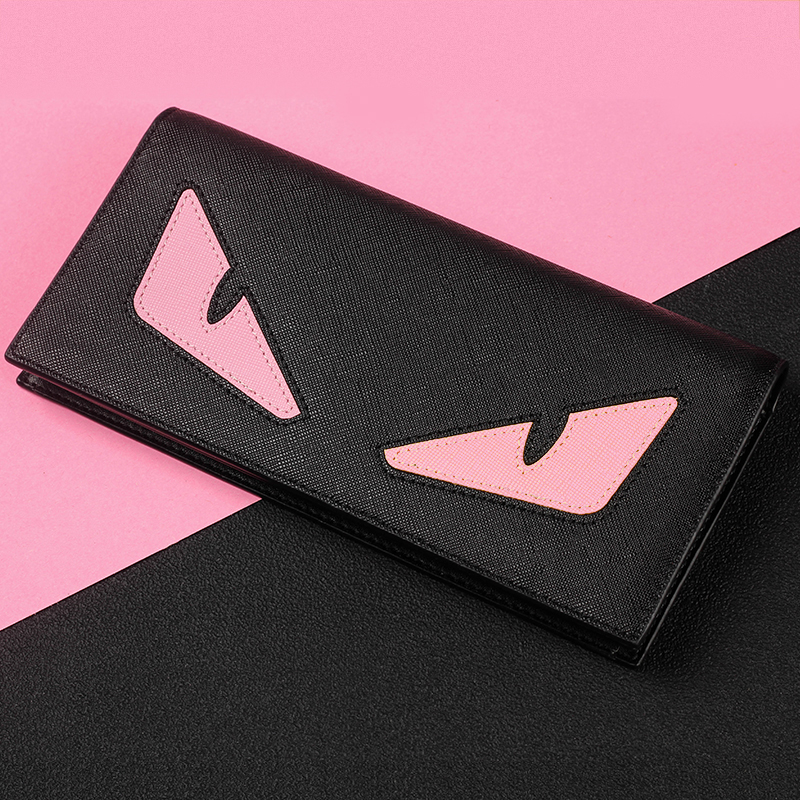2016 Direct Selling Promotion Card Holder Zipper Solid Monster Man Purse Long Leather Wallet Card Type Ultra-thin Young Couples <br><br>Aliexpress