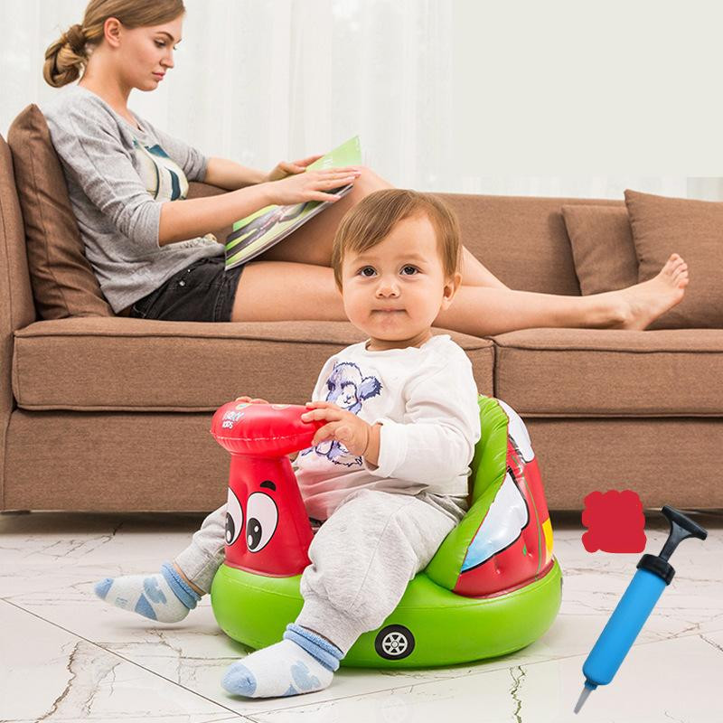 Baby Seats &amp; Sofa 2017 Brand New Baby Inflatable Small Sofa Thicker Kids Learn Seat Portable Multi-Fnctional Bath Stool Chair<br><br>Aliexpress