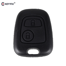 KEYYOU Remote Key Car Key Blade Fob Case Replacement Shell Cover For Citroen C1 C4 for Peugeot 107 207 307 407 206 306 406