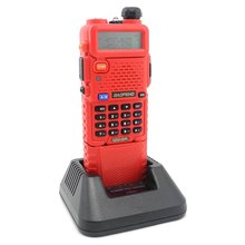 BAOFENG RED UV-5R with 3800 mah battery Walkie Talkie VHF/UHF 136-174/400-520MHz Dual Band Ham Radio-free shipping